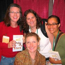 Elizabeth Gilbert, backed by her fans