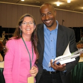 Van Jones, author of the Green Collar Economy, with Kyle Design artist Kyle McKeown Mansfield