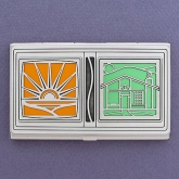 Solar Homes Business Card Case - Solar Energy and Green Building Techniques are among the many solutions we can implement today to fight global warming.