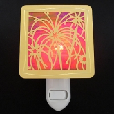 Stain Glass Fireworks Night Light - Celebrate the New Year and add some excitement to a dark corner!