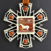 Wild Mustang Christmas Ornament is the perfect gift for horse lovers. May be engraved, too.