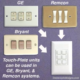 Ge Bryant Remcon Touchplate Wallplate Compatibility on Bryant Low Voltage Switch Plate