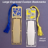 Personalized Christian Bookmarks in Gold and Silver