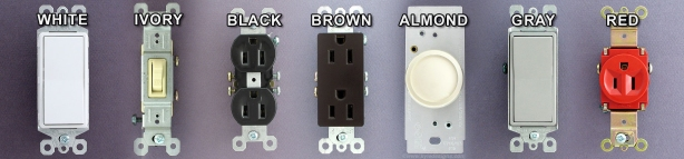 Switch and Oulet Colors from Kyle Switch Plates
