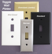 Toggle Switch Plate in 4 Sizes and Finishes