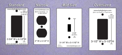 Swtich Plate Sizes and Dimensions