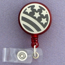 Red Stars and Stripes Flag Badge Holder