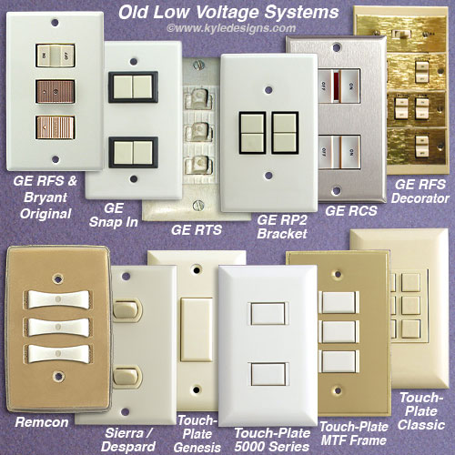 Low Voltage Wiring Systems Older Homes Switches Wallplates on Remcon Low Voltage Switches