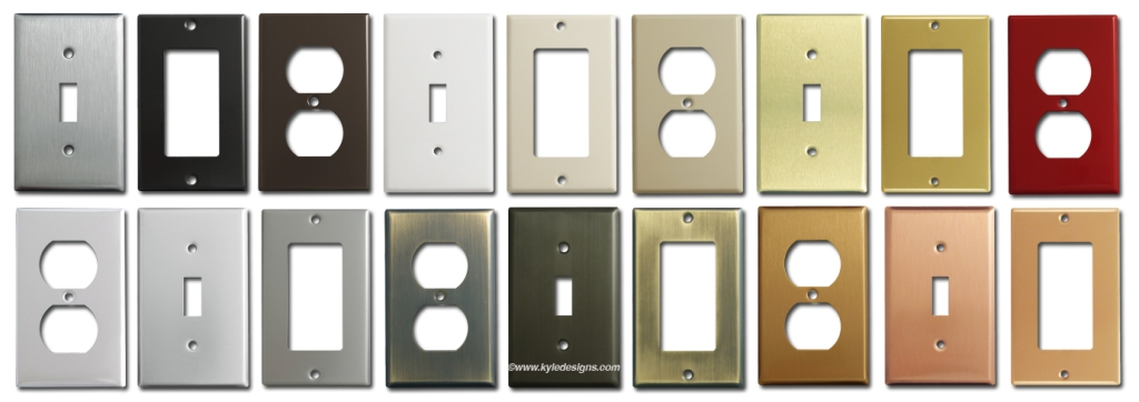 Light Switch Plates, Outlet Covers, and Rocker Switchplates u00ab Color Style Kyle