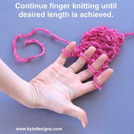 Finger Knitting Instructions For Kids Adults Color Style Kyle